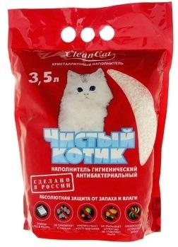 Наполнитель 'Чистый котик' 3,5 л. (кристаллит)